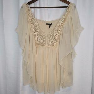 Victoria's Secret/ Creamy Lace Flowy Blouse/Xlarge